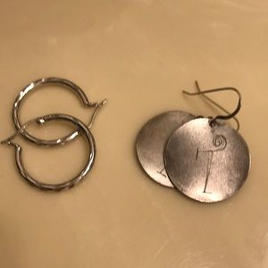 2 pr of silver earrings SALE